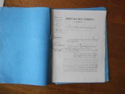 24 SEPTEMBRE 1848 ROINVILLE PEIGNEAU LOUIS ARPENTEUR PATENTE BORNAGE DES TERRES LECHALARD VICTOR ET CINTRACT JEAN LOUIS - Manuscripts