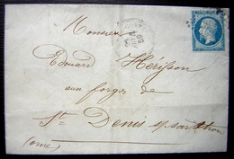 1859 Perlé De Saint Martin De Connée (mayenne) Maison Roussel Pour Les Forges De Saint Denis - Postmark Collection (Covers)