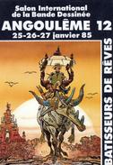 Cpsm (16) Angouleme 12 Salon Inter..... De La B. D.  (25.26.27 Janvier.  1985) - Bourses & Salons De Collections