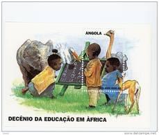 Angola-1998-Eléphants-aut Ruche-l´éducation   En Afrique-bloc38***MNH