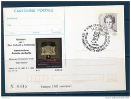 "Italia / Italy 1998  --- Cartolina Postale ""I.P.Z.S."" -- ANTONIO DE CURTIS ""TOTO'""-- FDC -- Tir.1000 Esemp. - 6. 1946-.. Repubblica"