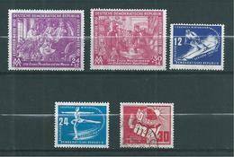 Allemagne Orientale Emissions Générale De 1948  N°1 A 5 Neuf ** (n°5 Oblitéré) - DDR