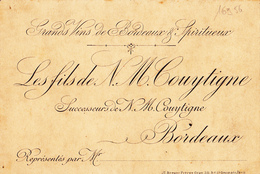 16956# GRANDS VINS DE BORDEAUX ET SPIRITUEUX COUYTIGNE GIRONDE - Publicités