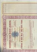 Mines De Bou Arfa 11 08 1922 Action De 2500 Francs Cod.doc.262 - Miniere