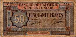 TUNISIE 50 FRANCS Du 3-2-1949 Pick 23  RARE - Tunisie