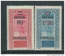Soudan N° 47 / 48  XX Les 2 Valeurs Surchargées Sans Charnière TB