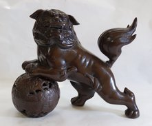Japanese Metallic Statuette - Asian Art