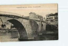 VILLENEUVE SUR LOT : Le Pont, La Grande Arche. 2  Scans. Edition Maury - Villeneuve Sur Lot