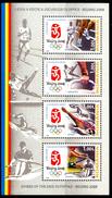 "ROMANIA 2008** - Games Of The XXIX Olympiad - ""Beijing 2008"" - Block Di 4 Val. MNH Come Da Scansione"