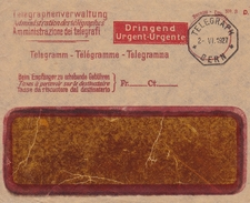 Lettre Suisse Bern 1924 TELEGRAH Télégramme Telegramm Telegramma - Telegraafzegels