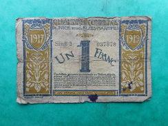 France 1 Franc 1917 Nice Et Alpes-Maritimes (Chambre De Commerce) - Chambre De Commerce