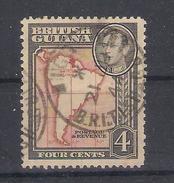 British Guiana 1937  Mi Nr 178A  Map,  Perfor.12,5 (a3p22) - British Guiana (...-1966)