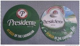 Presidente Beer Mat / Bierdeckel - Dominican Republic!!! Brought From Bonaire - Sous-bocks