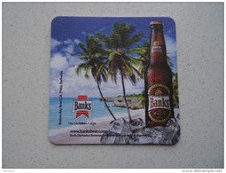 Banks Beer Beer Mat / Bierdeckel - Brewery From Barbados, Brauhaus Aus Barbados - Sous-bocks