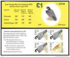IRELAND «Definitives- Birds» Booklet (1997) - SG No. - / Michel No. 38. Perfect MNH Quality