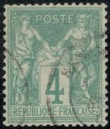 France Yvert 63 Bon Centrage Sans Défaut Cote EUR 100 (numéro Du Lot 63I) - 1876-1878 Sage (Type I)