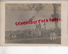 SERBIE - ENVIRONS DE MONASTIR - JEUX - LES BALANCOIRES - BALANCOIRE    - RARE  CARTE  PHOTO - Serbie