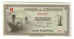 French Indochina 1 Piastre 1945 AUNC - Indochina