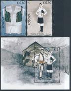 REPUBLIC OF KOSOVO 2016 The Traditional Costume Of Reka, Set Of 2v & Minisheet** - Kosovo
