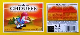 Beer Label Belgium Achouffe Mc Chouffe Brune 33cl 2012 - Beer