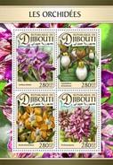 Djibouti - Postfris/MNH - Sheet Orchideëen 2016 - Djibouti (1977-...)