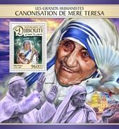 Djibouti - Postfris/MNH - Sheet Moeder Teresa 2016 - Djibouti (1977-...)