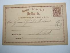 1873, Ca., LÜBTHEN , Seltener Stempel Auf Ganzsache - Mecklenburg-Schwerin