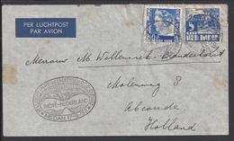 INDES NEERLANDAISES - 1937 - Enveloppe 1er Vol De Service - Correspondance De Siantar Vers Abcoude (Pays-Bas) - 2 Scans. - Nederlands-Indië