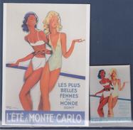 = Reproduction D'Affiche Ancienne De Monte Carlo 1937 Par J.G. Domergue - Publicité
