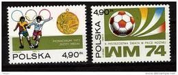 POLOGNE N°   2155/56 * *   Jo 1972  Cup1974  Football  Soccer  Fussball - Coppa Del Mondo