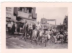 25944- Lot De 4 Photos Concernant J-Bte DEWEIRT  (DE WEIRT)- Restaurant Plage Velo Cycliste Belgique Bouffioulx