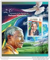 SOLOMON ISLAND 2015 ** S/S Nelson Mandela Dove Of Peace Friedenstaube - OFFICIAL ISSUE - X1524 - Columbiformes