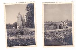 25946- Lot De 2 Photos Concernant J-Bte DEWEIRT  (DE WEIRT)- Belgique Bouffioulx- Josselin Bretagne - Personnes Identifiées