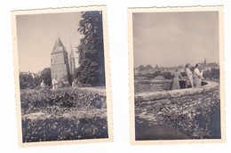 25946- Lot De 2 Photos Concernant J-Bte DEWEIRT  (DE WEIRT)- Belgique Bouffioulx- Josselin Bretagne