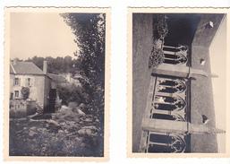 25947- Lot De 2 Photos Concernant J-Bte DEWEIRT  (DE WEIRT)- Belgique Bouffioulx- Treguier Pont-Aven Bretagne