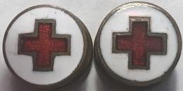 Croix Rouge. Rood Kruis. Boutons Manchette. Manchetteknopen - Médical
