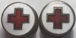 Croix Rouge. Rood Kruis. Boutons Manchette. Manchetteknopen - Geneeskunde