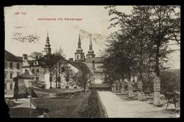 [018] Iglau, Jakobsplatz Mit Parkanlage, 1915, Verlag Hermann Seibt (Meissen), Mängel - Repubblica Ceca