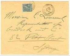 Nouv. Caledonia 1906 25c Sur Lettre Pour Sidney Cat 125EUR - Neukaledonien