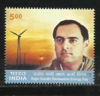 INDIA, 2004, Rajiv Gandhi And Renewable Day,  MNH, (**) - Nuovi