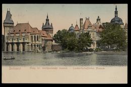 [018] Budapest, Landwirtschaftliches Museum, Gel. 1906, Verlag Taussig (Budapest) - Hongrie