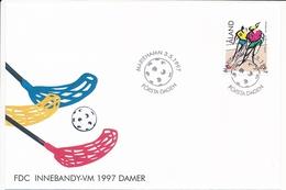 Mi 127 FDC Bandy Floorball Unihockey World Championships For Women - 3 May 1997 - Aland