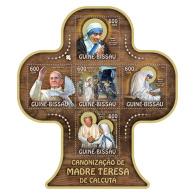GUINEA BISSAU 2016 ** Mother Teresa Mutter Teresa Mère Teresa M/S - OFFICIAL ISSUE - A1701 - Mother Teresa