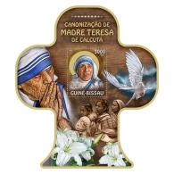 GUINEA BISSAU 2016 ** Mother Teresa Mutter Teresa Mère Teresa S/S - IMPERFORATED - A1701 - Mother Teresa