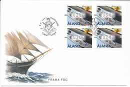 ATM Mi 8 Frama FDC / Ship Figurehead Galionsfigur Figure De Proue - 8 September 1997 - Aland