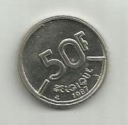 Pièce Belge De 50.fr. De 1987 - 1951-1993: Baudouin I