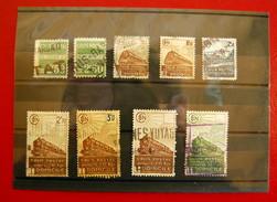 France - Colis Postaux Obllitérés - 9 Timbres - Usados