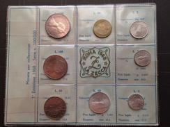 1968 Serie Completa Di 8 Monete Repubblica FDC Assoluto Con 500 Lire In Argento - Set Fior Di Conio