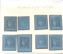 EL CLISE CUANDO GOLPEABA EMITIA ESTOS 8 TIPOS DE CERES DE CORRIENTES AÑO 1856 - LOS 8 TIPOS DE LA PLANCHA - MARAVILLOSO - Corrientes (1856-1880)