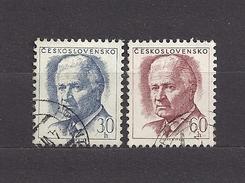 Czechoslovakia Tschechoslowakei 1968 Gest Mi 1787-1788 Sc 1537-1538 President Ludvík Svoboda C2 - Used Stamps